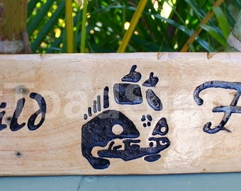 Wild & Free VW Kombi Hand Engraved Sign, Hand Painted, Reclaimed Timber, Beach, Rustic, Fun, Gift Ideas, Wood Sign, Man Cave, Hippie, Boho