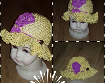 Crochet kids hat available for 9-12 month