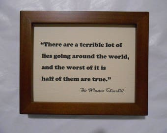 Truth, a witty quote by Winston Churchill.