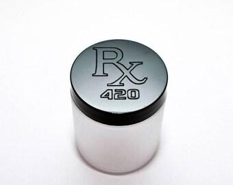 Laser Engraved RX 420 Stash Jar 4 oz