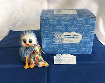 Vintage blue bird figurine from 1998