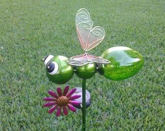 Butterfly, Dragonfly Solar Garden Stake