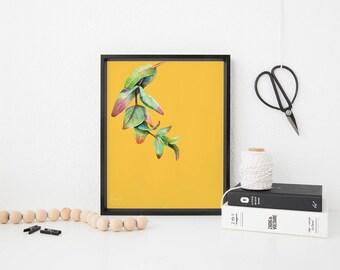 Printable Art, Colorful Art, Digital Art, Digital Print, Printable Wall Art, Tropical Print, Tropical Art, Botanical Art, Modern Art