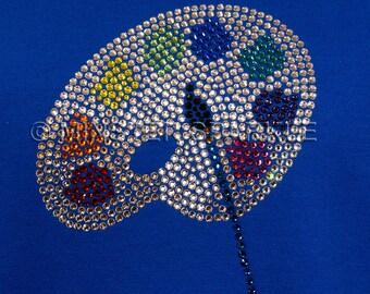 Sparkly Artists Palette Embellished Top
