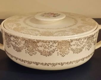 Delmar Lace Vegetable Bowl and Lid