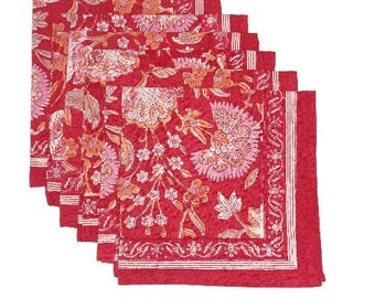 Napkins in Block Print