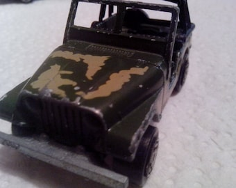 "Majorette 3 lot. 80s- Army Jeep"" 4x4 Renegade & Explorer Truck."