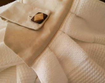 Kitchen Hand Towel x 2 - White & Linen