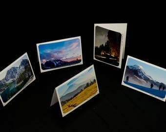 Set of Five Blank Photo Cards, Original Landscape Photography by Bobby Olsen (Adventure Pack #2)