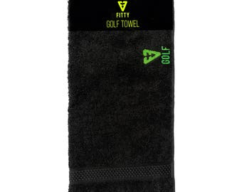 FITTY UK Black / Lime Golf Towel