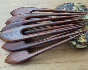 2 Prongs Wood Hair Sticks, Hair Pin, Hair Fork, Hair Accessories HS127