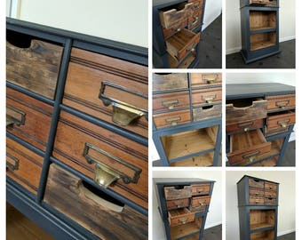 Upcycled, Free Standing Cabinet/Unit with Drawers