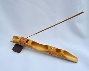 Bamboo hand carved In-scent holder burner