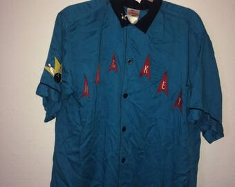 Mickey Mouse Bowling Button Up Size M