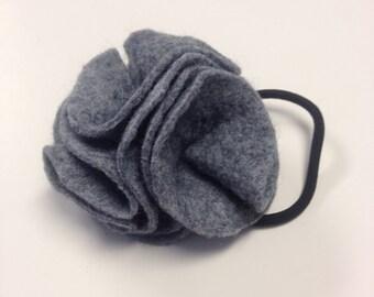 Blue-grey flower hairband