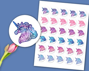 Watercolor Unicorn Stickers / Unicorn Mail Stickers / Labels / Packaging Stickers / Fashion Consultant / Independent Sales Rep