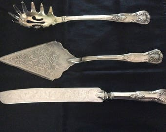 Vintage 3 Piece Plated Silver - Sheffield Silver Co (Italy)