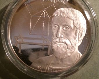 Pythagoras - Sterling Silver Collection of History of Science (Proof)
