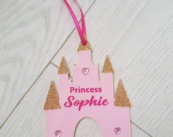 Personalised Princess Castle Room Hanger