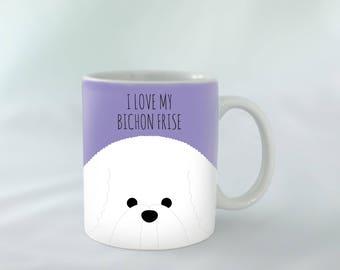 I Love my Bichon Frise Mug personalised | Different colours available | Custom name mugs | Dog Mug