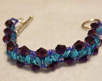 Triangle weave beaded bracelet