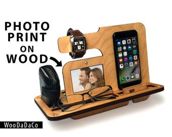 iPhone Stand Wood iPhone dock iphone docking iphone docking station iphone stand for men iphone stand for him iphone stand gift phone stand