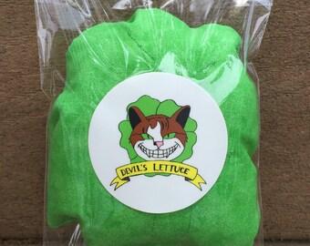 Devil's Lettuce Catnip pillow, Catnip Toy, Cat toys
