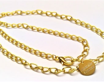 Men's gold chain 60 cm long with 22k gilded