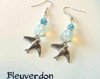 Swallows earrings