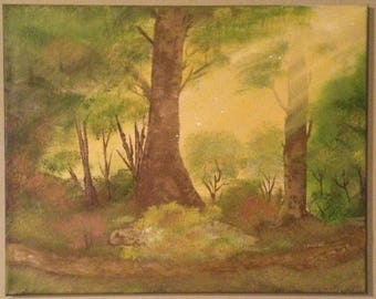 Playful Sunrays oil painting
