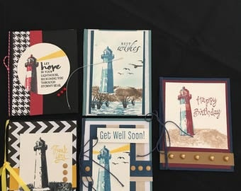 Lighthouse Greeting Cards (Set of 5) Group A