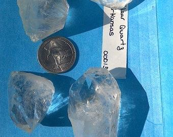 Crystal clear Quartz Points. 4 pc