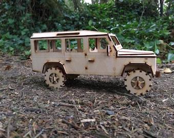 Land Rover Defender 110 Plywood Model LWB 2 versions
