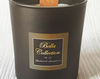 Luxury Handpoured Soy Candle Medium Black Glass Jar