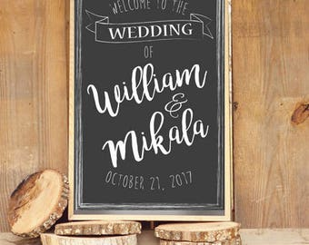 Wedding Welcome Sign PRINTABLE