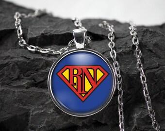 Nurse Glass Pendant nurse necklace nurse jewelry nurse gift photo pendant art pendant photo jewelry art jewelry glass jewelry