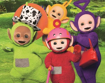 Teletubbies Cbeebies Childrens Tv A3 POSTER FREE P&P