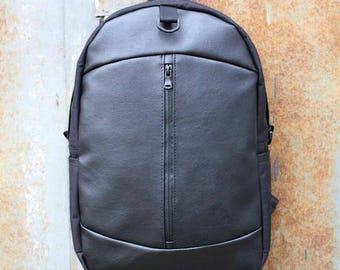 Waterproof Vegan Backpack/ Rucksack Hipster Canvas Bike Backpack/ Rucksack for Men/Women Laptop Backpack/Backpack Laptop/Handmade Backpack