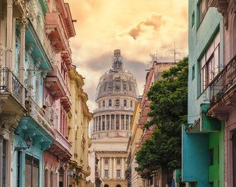 Streets of Havana - Photography Fine Art Print, Old Havana Print, Travel Photography, Cuban Art, Urban Art, Havana Art, Architecture of Cuba