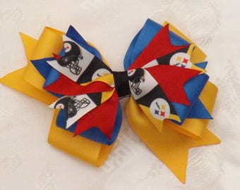 Pittsburgh Steelers Large Stacked Bow