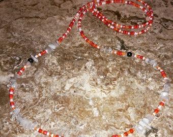Moonstone with Hematite Waistbead