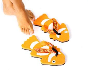 flip flops clown fish nemo