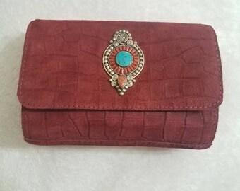 Moroccan handmade suede clutch