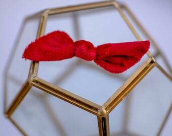 Red Velvet Knot Bow