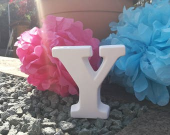Ceramic Letter 'Y' Bespoke Hand Painted to Order