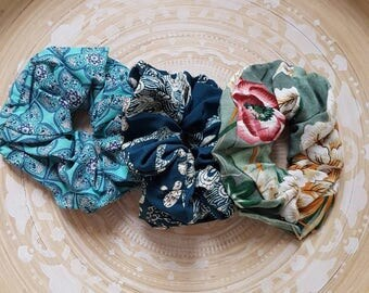 Boho Scrunchie, Scrunchies, Scrunchie Pack, Scrunchie three pack
