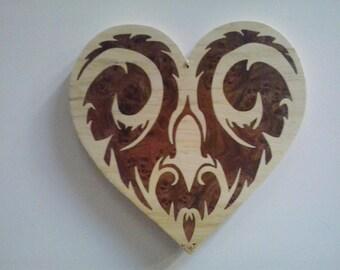 heart inlay