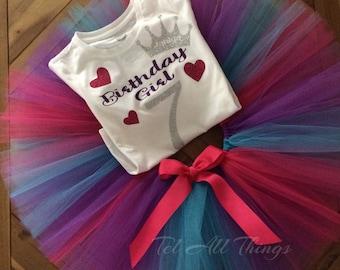 Bithday Girl Outfit Tutu Set