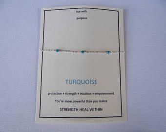 turquoise scattered bracelet, sterling silver