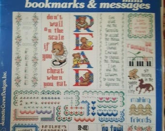 Beginners series cross stitch borders , bookmarks, and mini messages